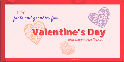 free valentines font graphic