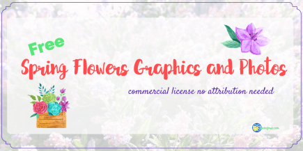 """California lilac photo with text overlay """"Free SPring Flowers Graphics and Photos"""""""