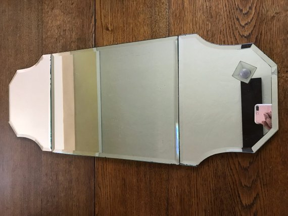 vintage centerpiece mirror
