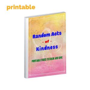 product image or printable Random Acts of Kindness Coloring and Craft Book