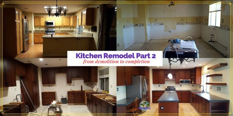 collage of home remodel process