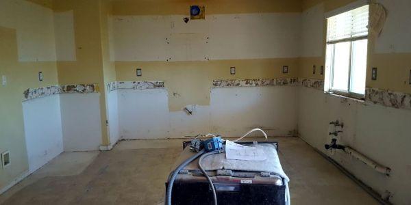 kitchen after demolition