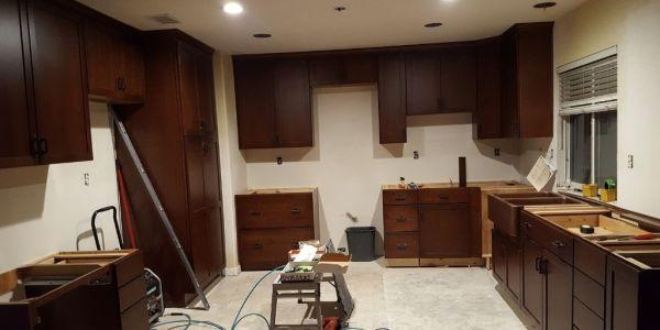 kitchen during installation process