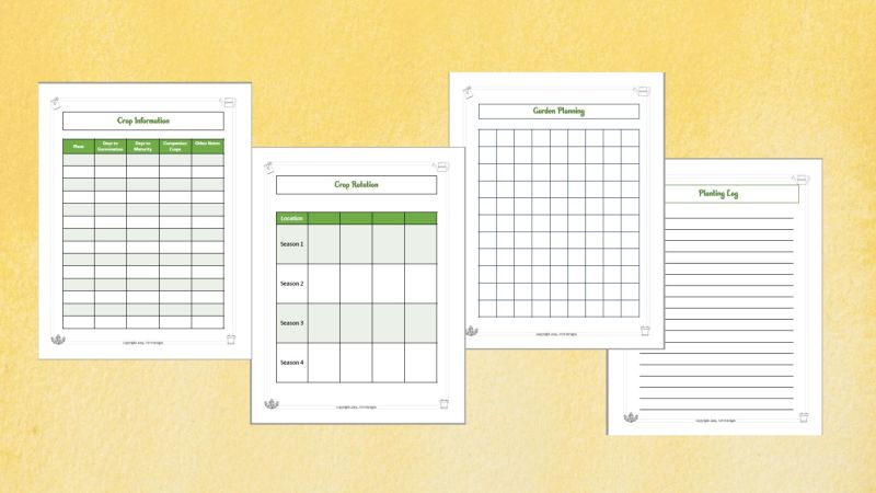 garden planner pages