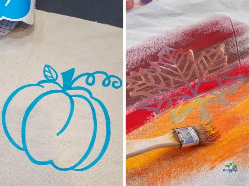 painting over a stencil