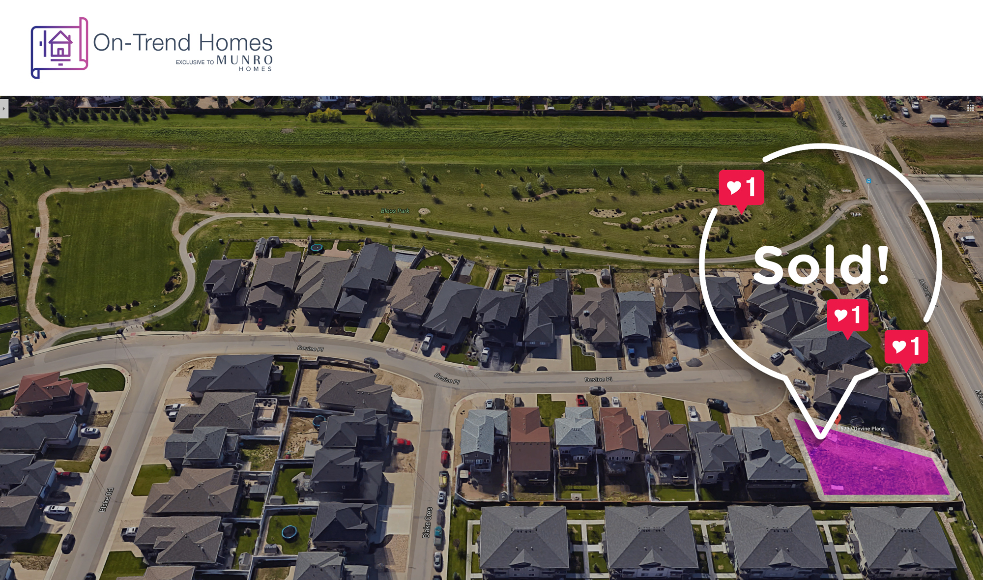 Our lot at 5737 Devine Place is now sold!