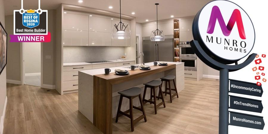 Munro Homes was voted the best home builder in Regina in 2020 by Prairie Dog magazine