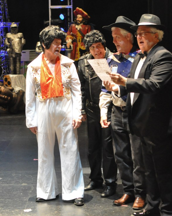 Elvis is in the building: The cast of 'New Wrinkles.' Photos / Donald Munro