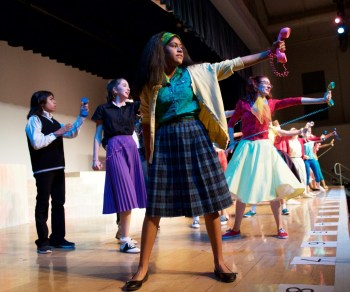 """The cast of """"Bye Bye Birdie"""" in """"The Telephone Hour."""""""