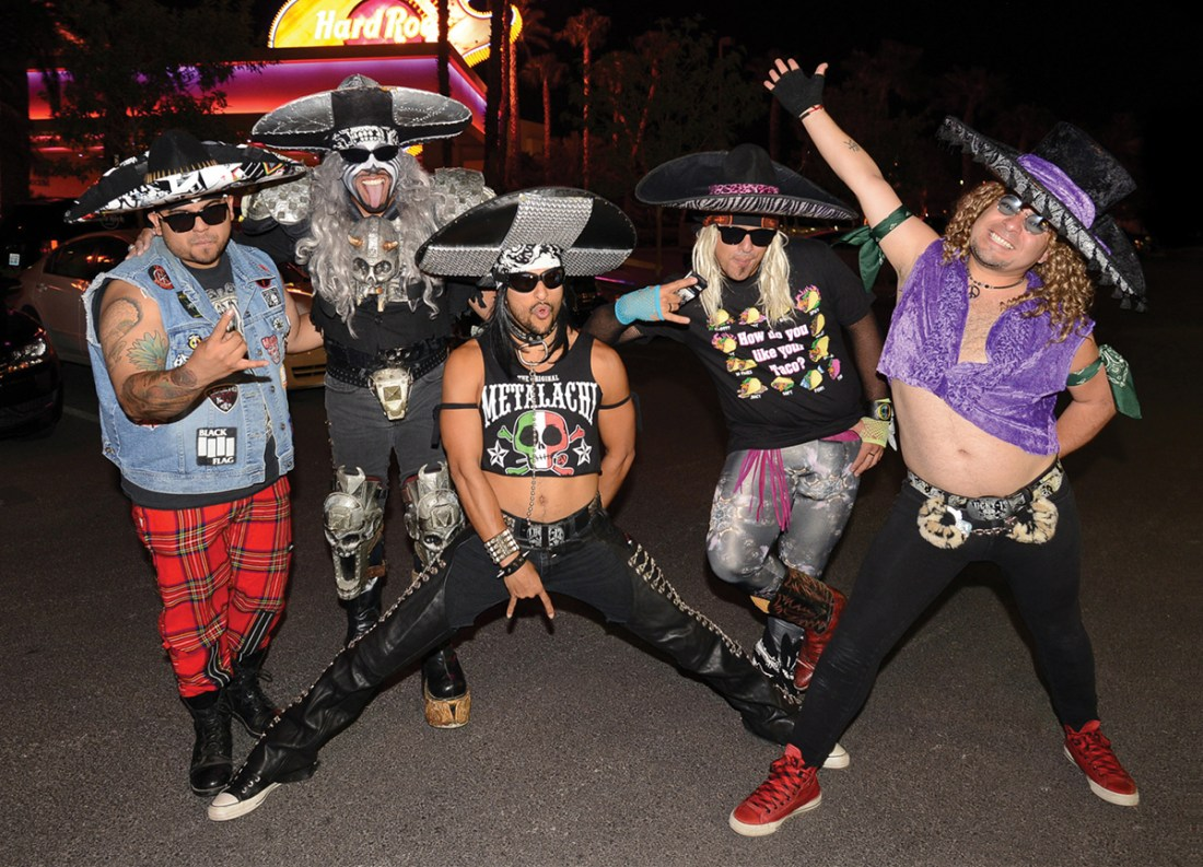 Metalachi performs at Vinyl nightclub at the Hard Rock Hotel in Las Vegas, NV