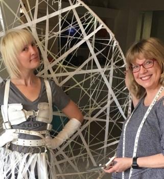 Left, model Chloe Tatro and artist Pattie Wilkinson.