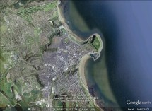 Scarborough, England aerial. From Google Earth.
