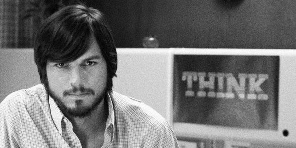 Ashton Kutcher as Steve Jobs in jOBS