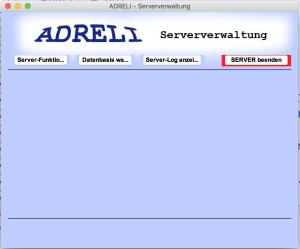 Die ADRELI-Server-GUI