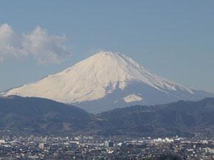 弘法山からの富士山
