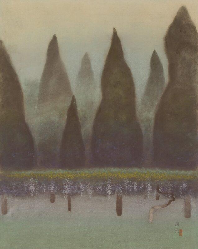 《寧楽の杜》 1955(昭和30)年 青梅市立美術館蔵