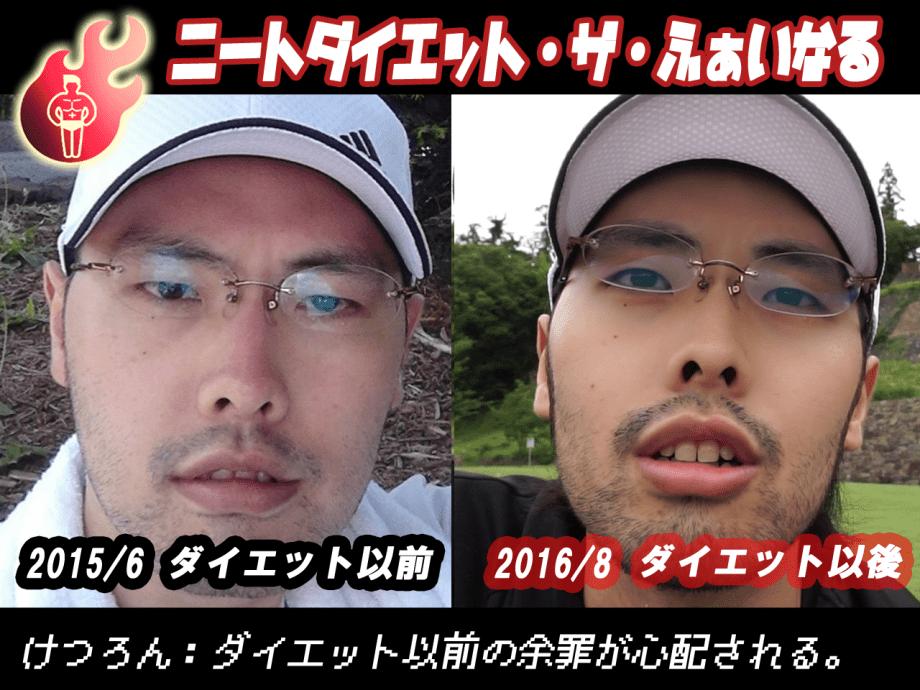 ニートダイエット以前→ダイエット以後