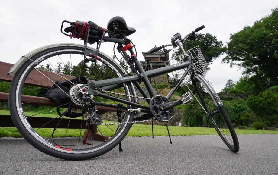 700C&8速改造を施された通学用ママチャリ自転車アルサスさんと上田城