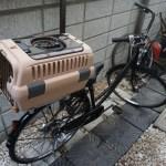 ペットキャリーと自転車を合体させるカスタム