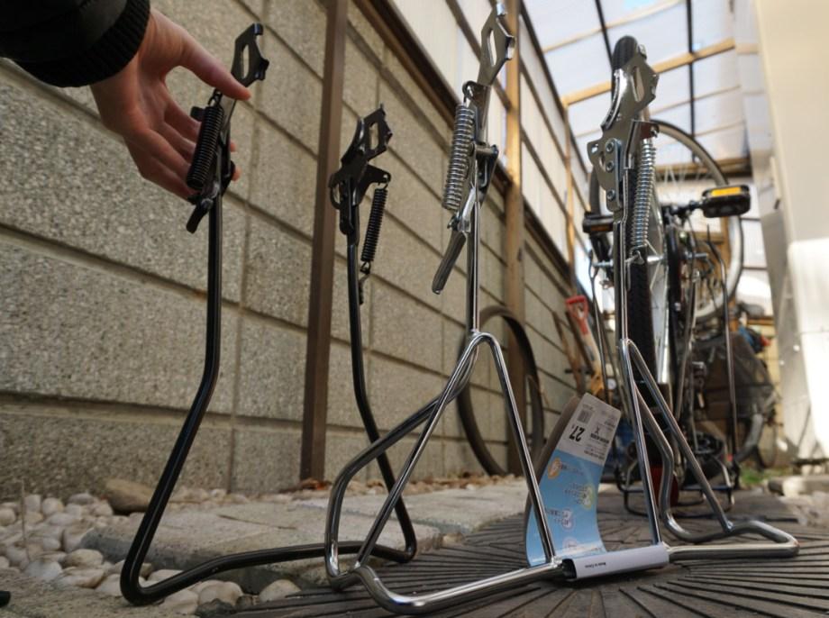 もう自転車を倒したくないならワイドなガッチリスタンドに改造交換