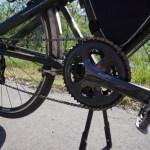 前のギアを2枚に改造した自転車