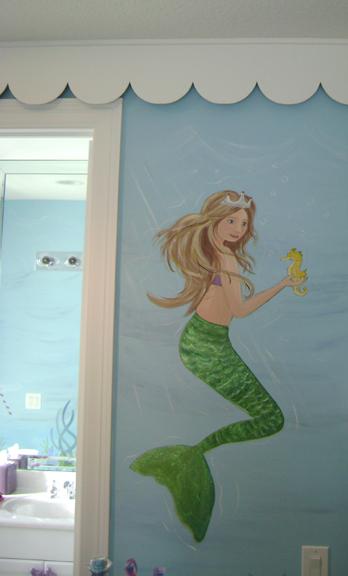 Sassy Coral Reef Child Room Mural Childrens MuralMural