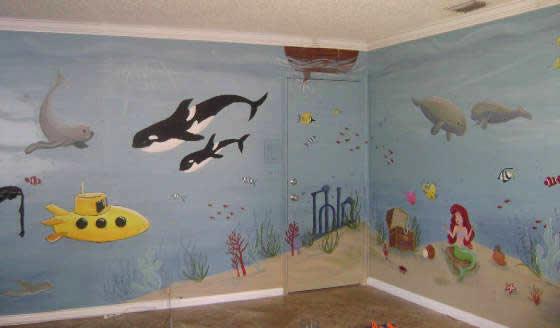 Under The Sea Bedroom Design Oak Effect Childrens Furniture Underwater