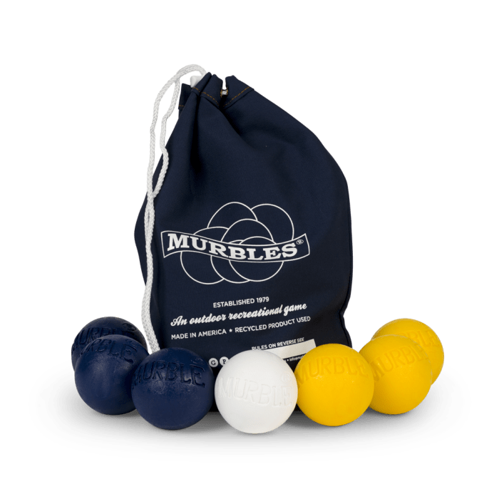 Murbles 2 Player 7 Ball Tournament Set Black Bag with Yellow Balls