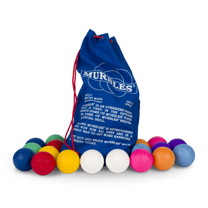 Murbles 8 Player 18 Ball Medium Activity Set Multi Color Murbles