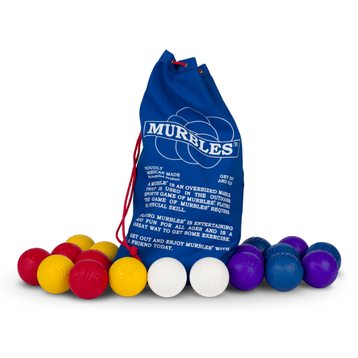 Murbles 8 Player 18 Ball Medium Activity Set Purple and Blue Murbles