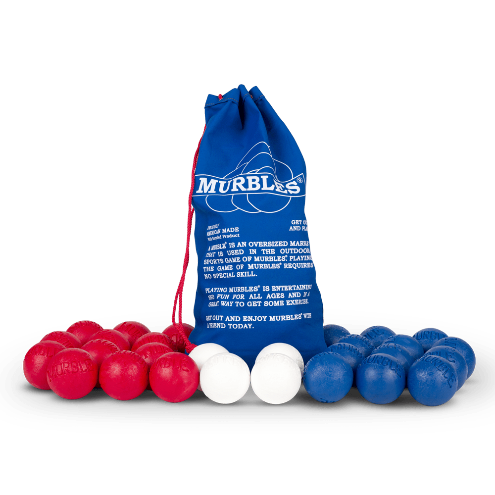 Murbles 8 Player 28 Ball Large Tournament Set Red and Blue Murbles