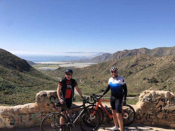 El Cedacero view to La Azohia and Isla Plana - GPX Route Download - Murcia Bike Hire
