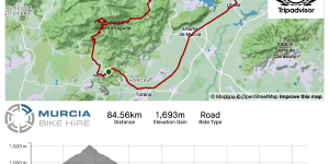 Murcia Bike Hire – Sierra Espuña Collado Bermejo & Fuente Librilla GPX Route