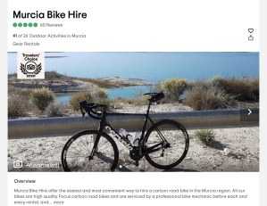 "Murcia Bike Hire are now offering ""Tailored Cycling Holidays"""