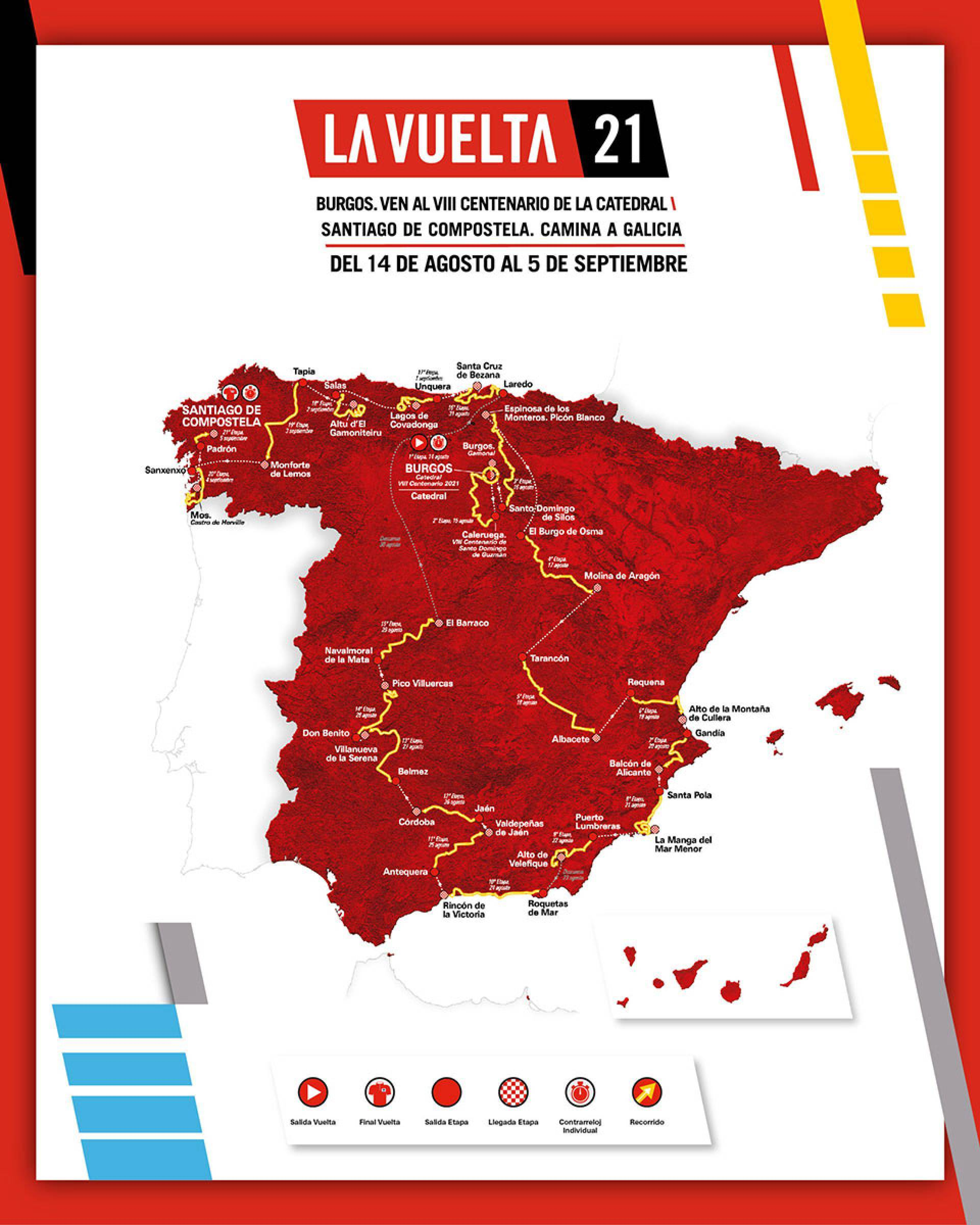 Vuelta a España Route includes the region of Murcia