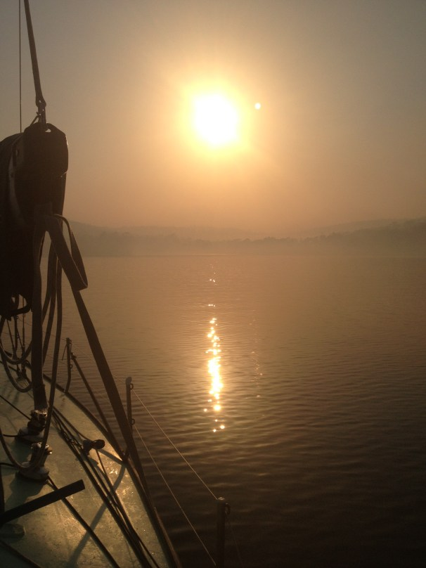 The sun rises over an eerily quiet Murdunna. No birds, no people, the odd fire truck racing to a scene resonates through the smoky, dense air.