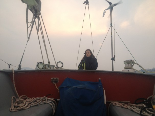Ella steers us into King George Sound aboard Emily, taking in the destruction of our community, friends homes, and the intensity of it all.