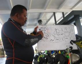 Basrah during 1 of his dive briefings