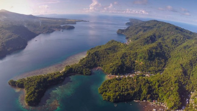 Lembeh Strait over view