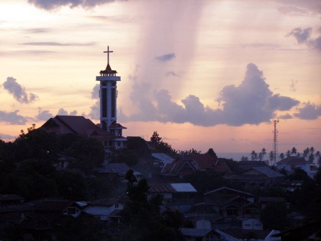 Church tower in manado
