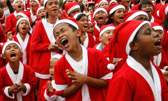 Christmas in North Sulawesi is an exciting time for children