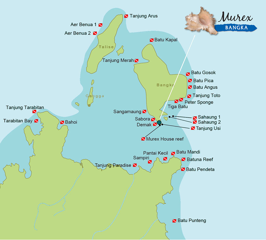 Bangka Dive Map