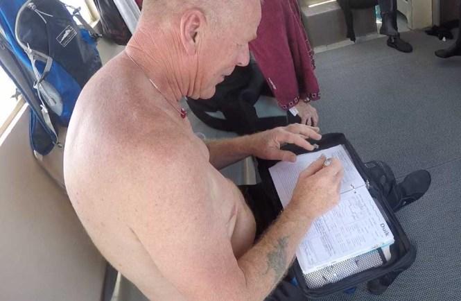 Diving technique logbook
