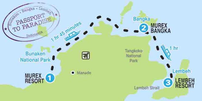 North Sulawesi Dive site map