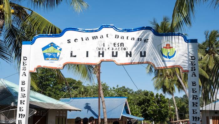 Lihunu Village sign