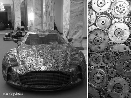 samochod z metalu wystawa