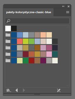 palety kolorystyczne z classic blue - adobe illustrator