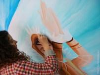 Nívola pintando el esquimal