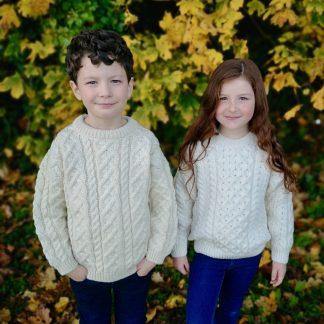 Wee Classic Childrens Aran Sweater