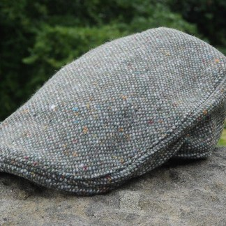 Brad Pitt Style Tweed Cap Envy Green